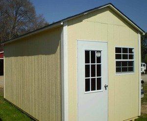Garner storage sheds built on site, Angier, NC, office shed, divided shed, wooden shed, shed built on site