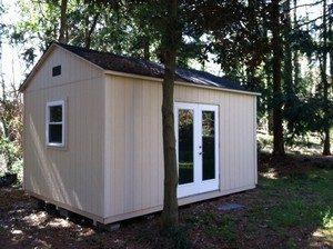 Garner sheds with patio doors, built in yard, garner, nc, large sheds, wooden sheds, sheds built in woods, shed ideas, sheds built in yard, on site