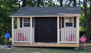 she-sheds, sheds with porch, playhouses, sheds built in yard, on site, willow spring, nc