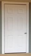 Single panel shop door