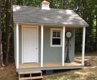 shed with porch, shed to meet HOA requirements, sheds with permits