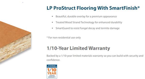 Do sheds need treated floors? LP Prostruct treated floors