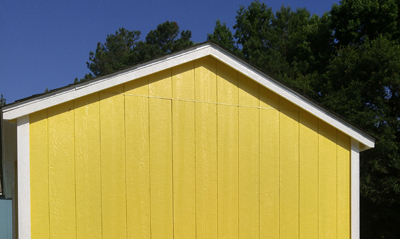 trimmed eaves storage sheds garner