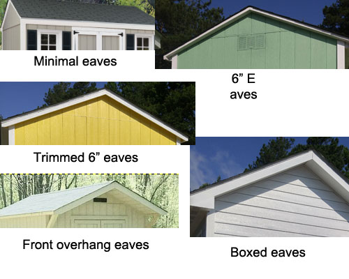 shed eaves: storage sheds Raleigh