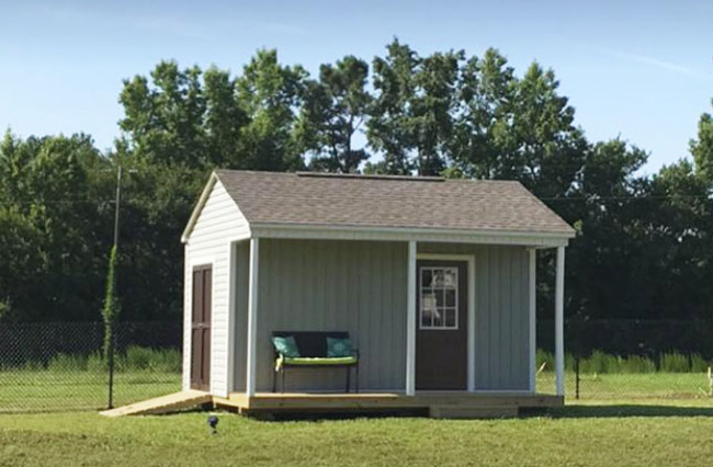 shed with porch garner nc